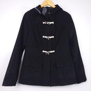 Old Navy Hooded Toggle Duffle Black Winter Coat